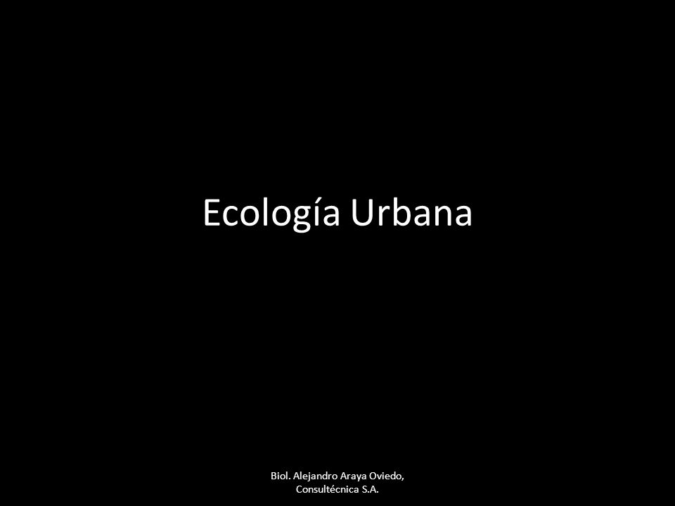 Ecología Urbana Biol. Alejandro Araya Oviedo, Consultécnica S.A.
