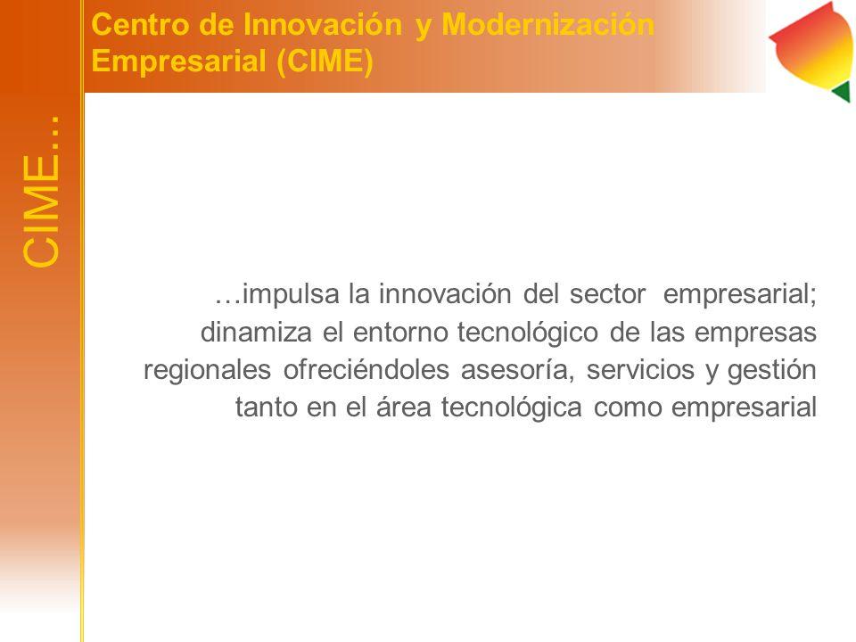 …impulsa la innovación del sector empresarial; dinamiza el entorno tecnológico de las empresas regionales ofreciéndoles asesoría, servicios y gestión