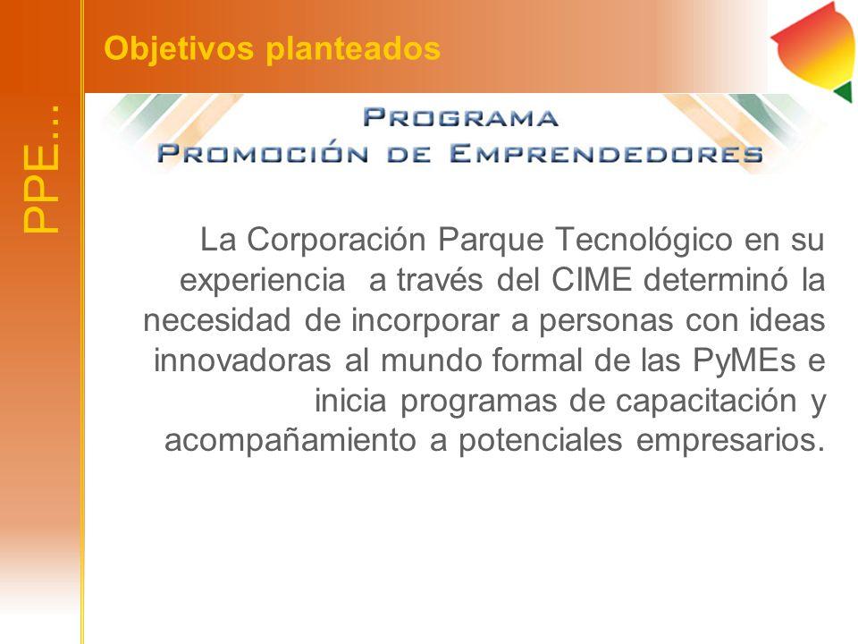 La Corporación Parque Tecnológico en su experiencia a través del CIME determinó la necesidad de incorporar a personas con ideas innovadoras al mundo f