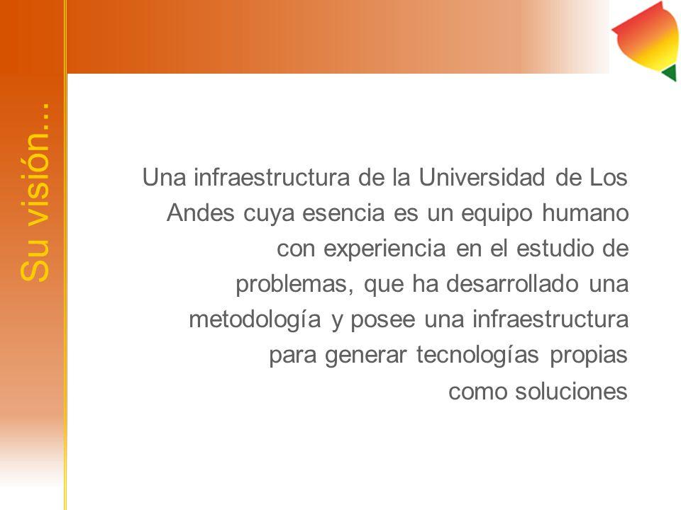Su visión... Una infraestructura de la Universidad de Los Andes cuya esencia es un equipo humano con experiencia en el estudio de problemas, que ha de