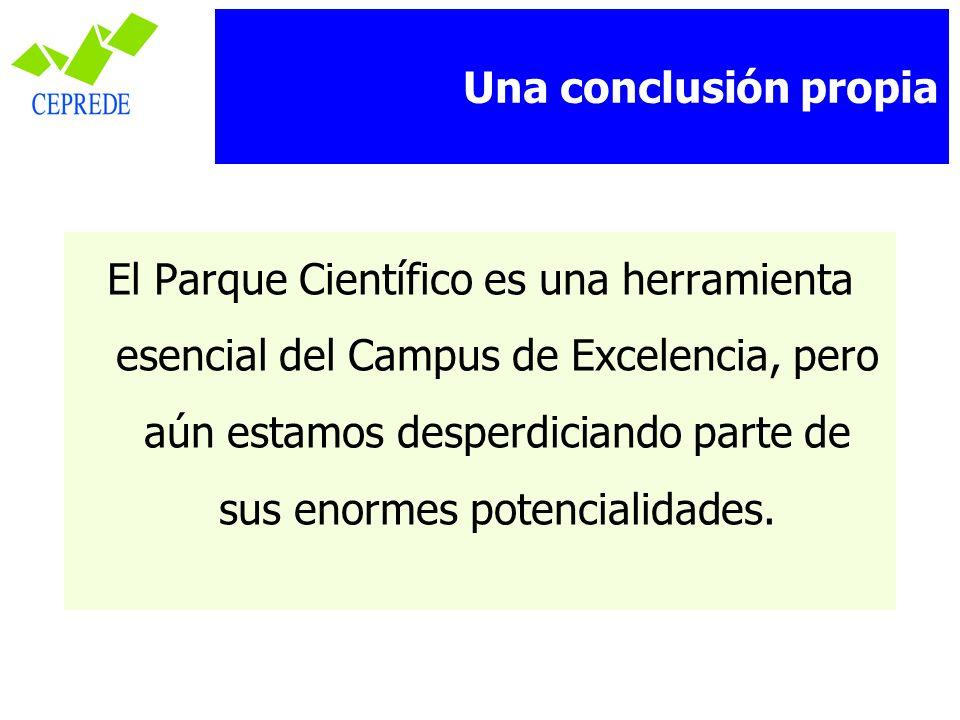 El Parque Científico es una herramienta esencial del Campus de Excelencia, pero aún estamos desperdiciando parte de sus enormes potencialidades. Una c