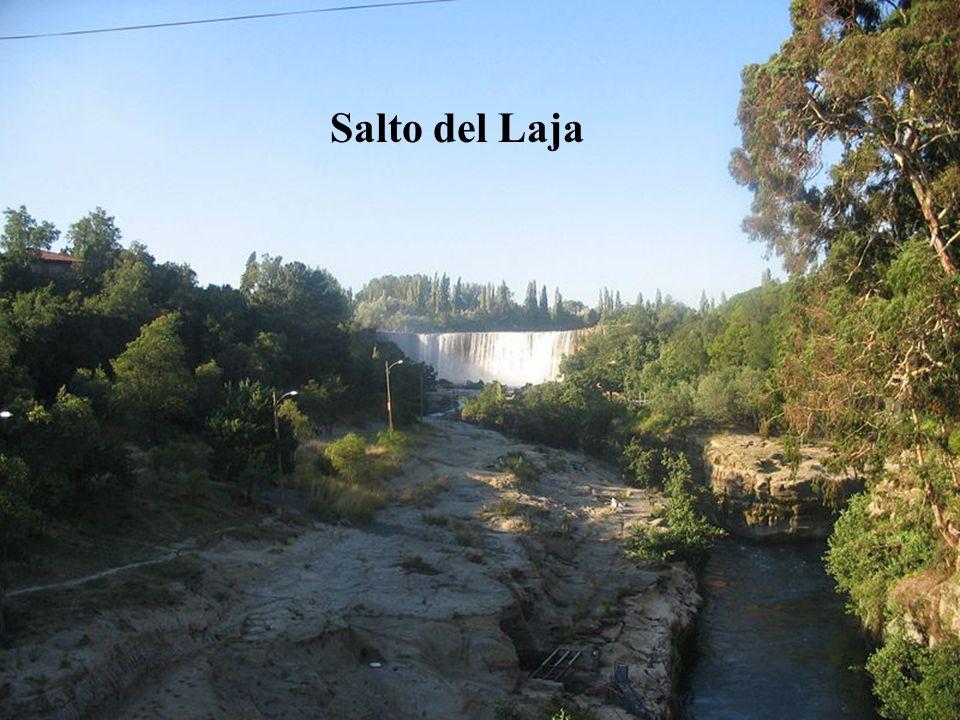 Por la Ruta Panamericana se accede al salto del Laja, que es considerado la entrada al sur de Chile. Más al oriente, hacia la cordillera de Los Andes,