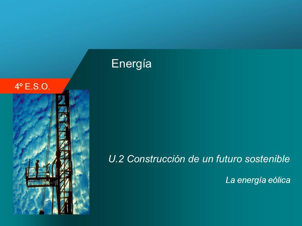 4º E.S.O. Energía U.2 Construcción de un futuro sostenible La energía eólica