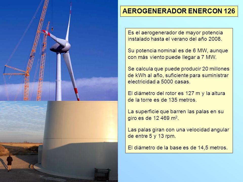 Es el aerogenerador de mayor potencia instalado hasta el verano del año 2008.