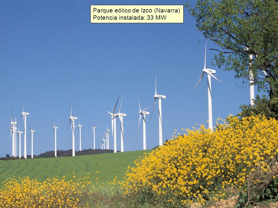 Parque eólico de Izco (Navarra) Potencia instalada: 33 MW