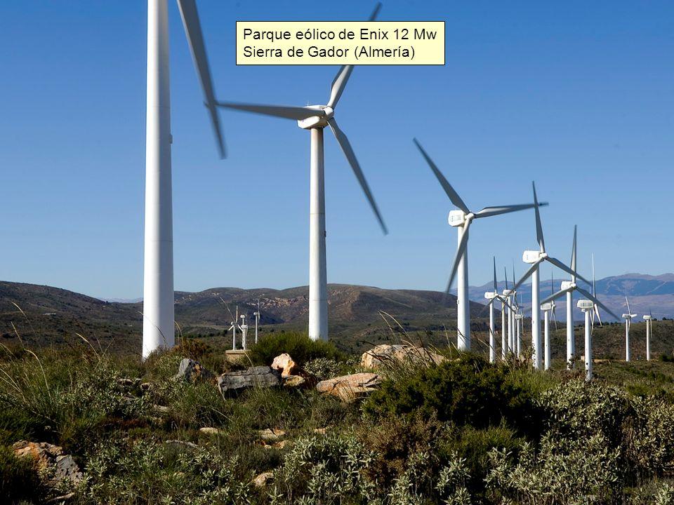 Parques eólicos en Tarifa (Cádiz) Los primeros parques eólicos en España se instalaron en Tarifa, zona con gran potencial eólico.