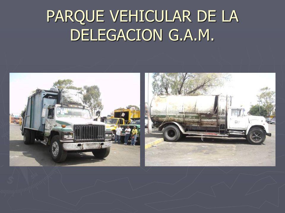 PARQUE VEHICULAR DE LA DELEGACION G.A.M.