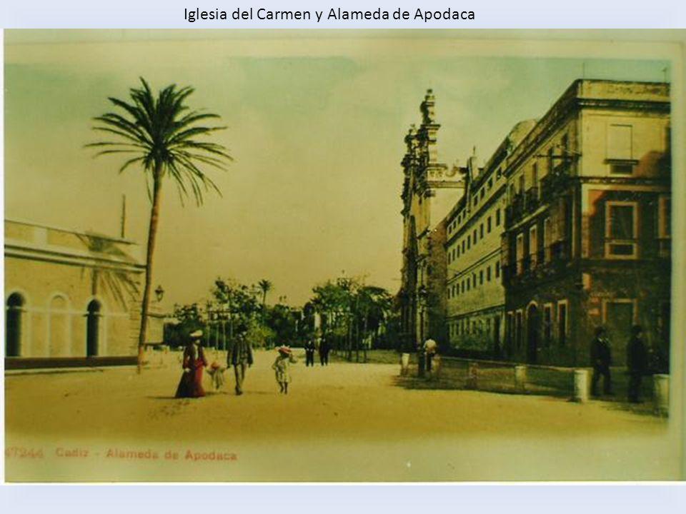 Troneras con cañones y antiguo Baños del Carmen