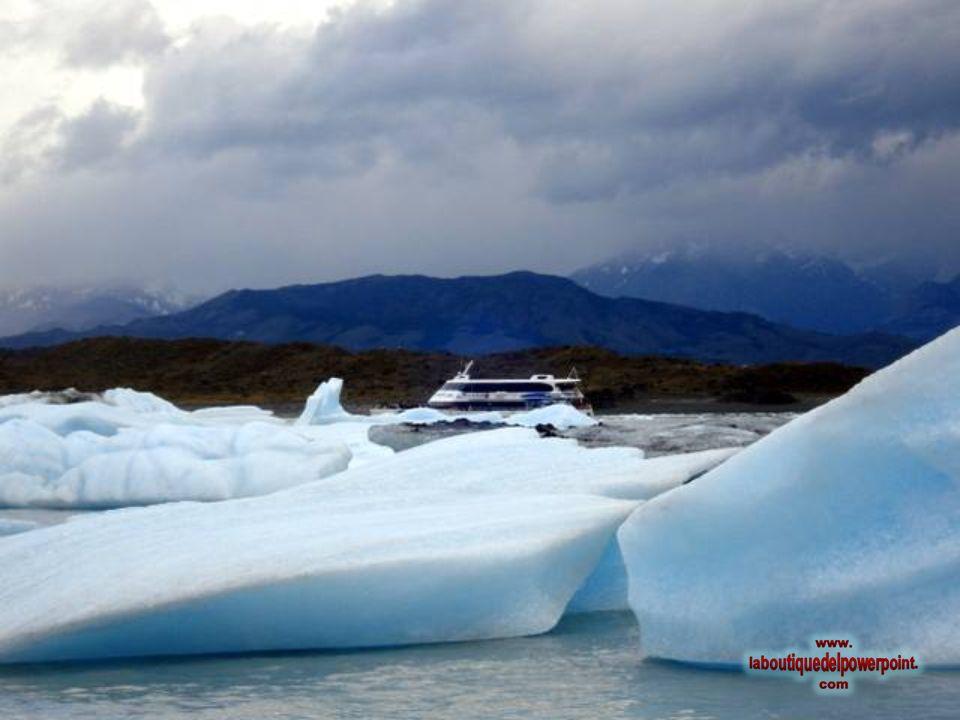 Avistaje del glaciar Seco, glaciar que ya no llega más al lago