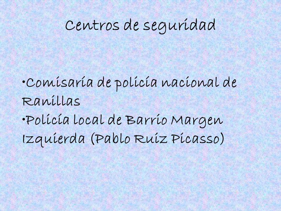 Centros de seguridad Comisaría de policía nacional de Ranillas Policía local de Barrio Margen Izquierda (Pablo Ruiz Picasso)