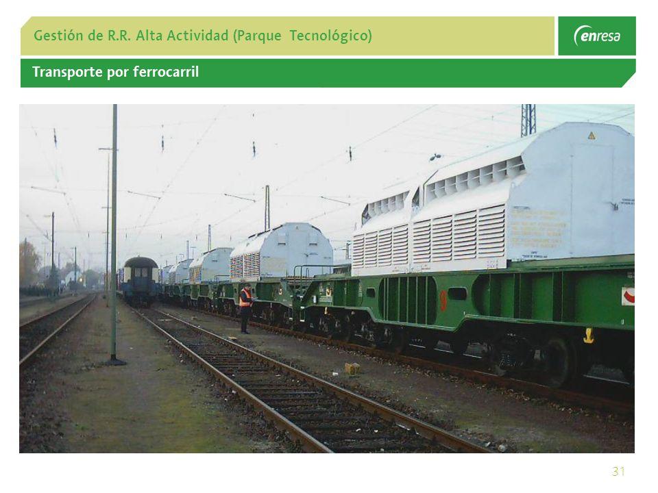 31 Gestión de R.R. Alta Actividad (Parque Tecnológico) Transporte por ferrocarril