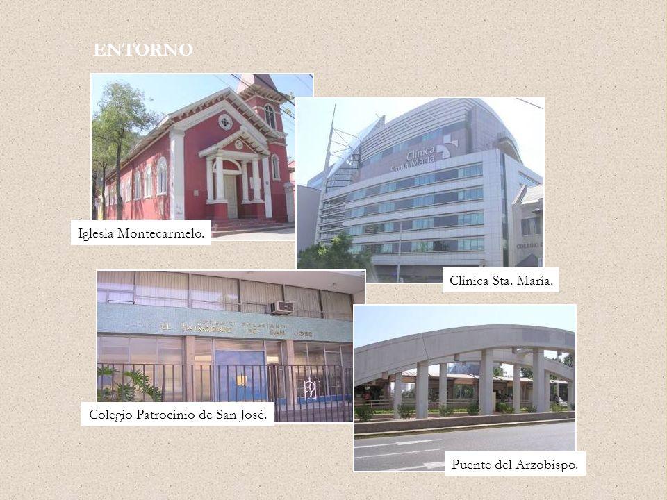ENTORNO Iglesia Montecarmelo. Clínica Sta. María. Colegio Patrocinio de San José. Puente del Arzobispo.