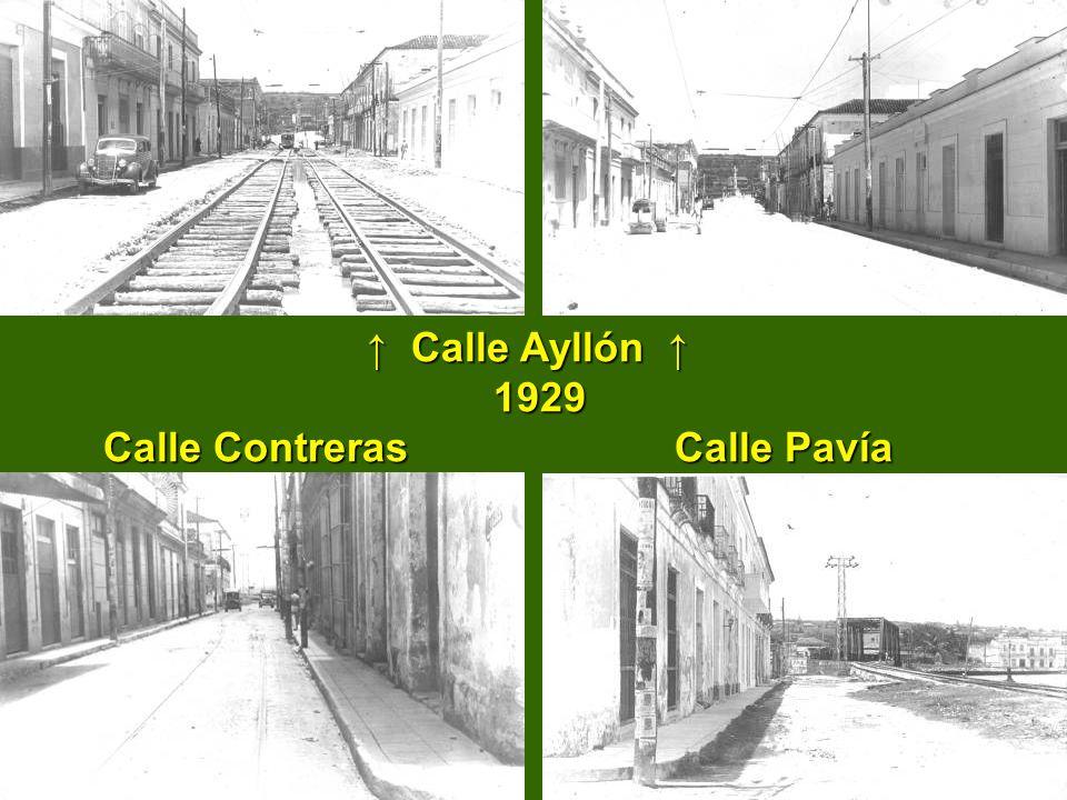 Calle Ayllón Calle Ayllón 1929 Calle Contreras Calle Pavía 1929 Calle Contreras Calle Pavía