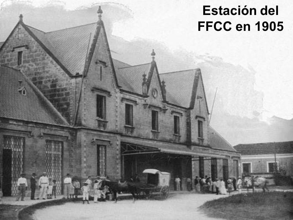 Estación del FFCC en 1905