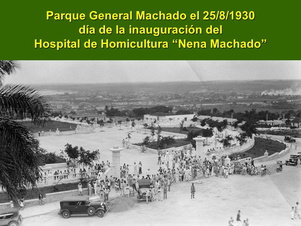 Parque General Machado el 25/8/1930 día de la inauguración del Hospital de Homicultura Nena Machado