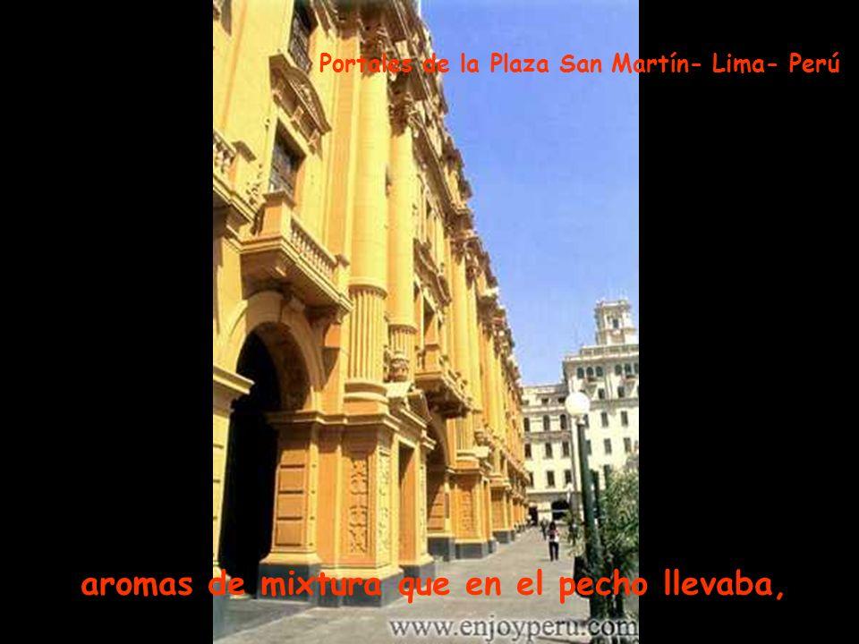 derramaba lisura y a su paso dejaba Plaza Italia- Barrios Altos- Lima