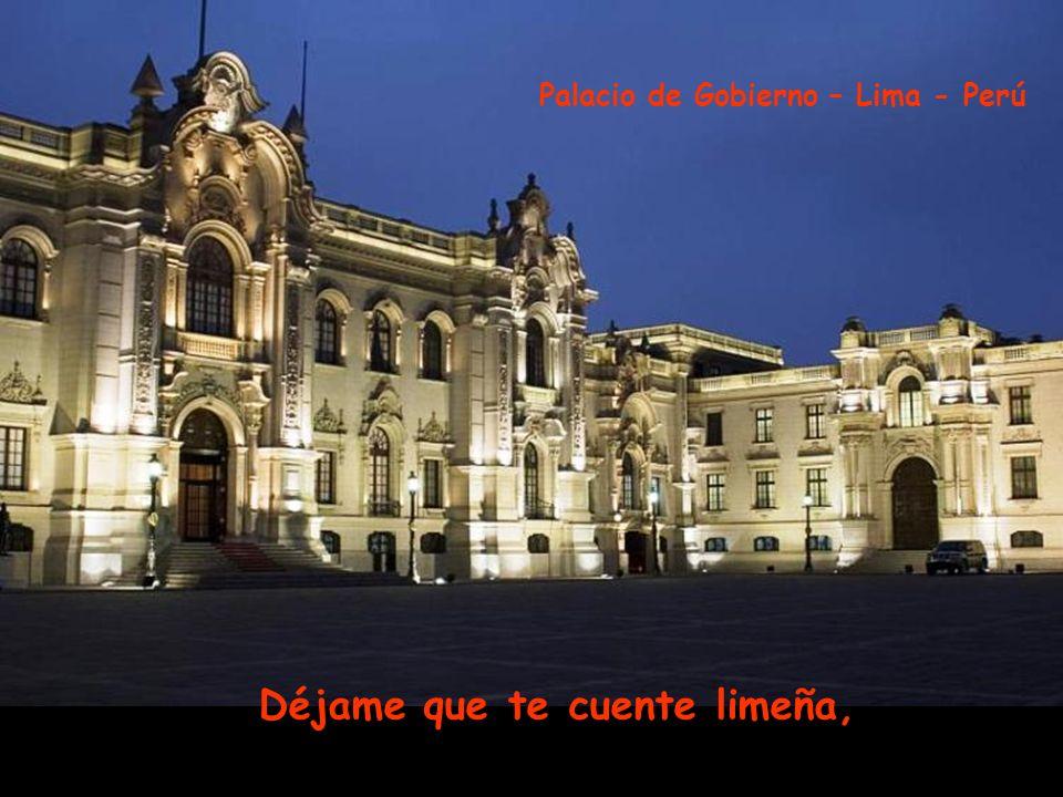 y al viento la lanzaba del puente a la alameda. Municipalidad de Lima