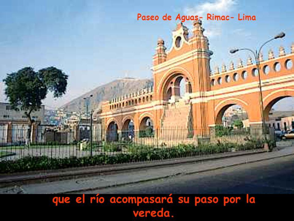 alfombra de nuevo el puente, que engalana la alameda, Parque de la Exposición - Lima