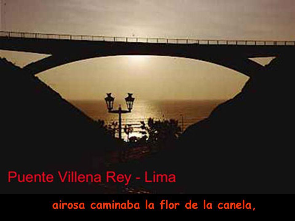 Y recuerda que jazmines en el pelo y rosas en la cara, Plaza de Armas de Lima