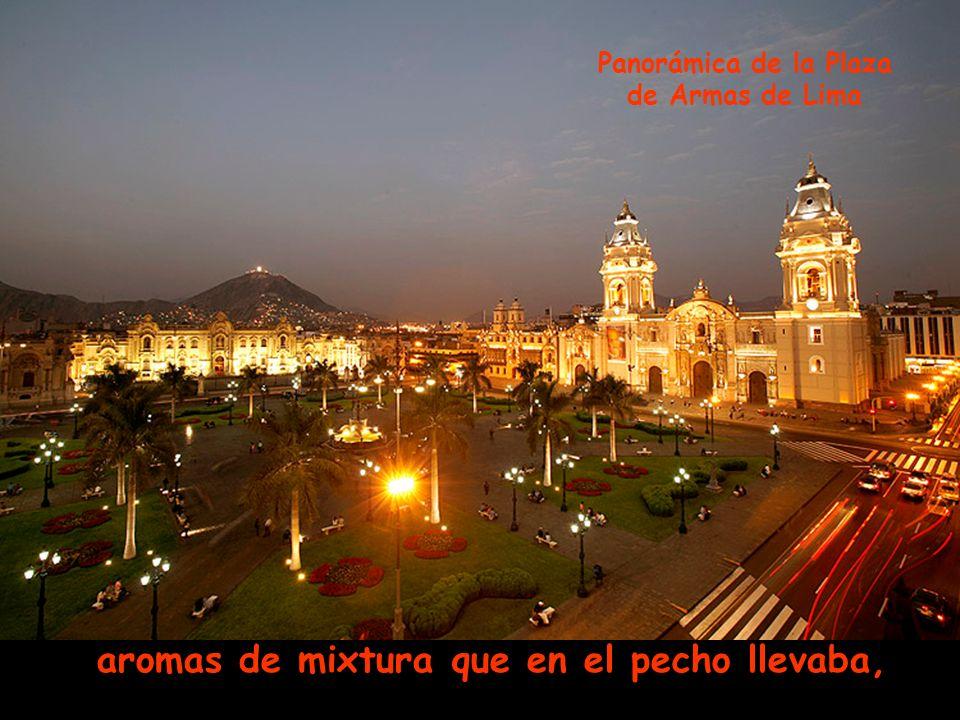 derramaba lisura y a su paso dejaba Balcón principal del Arzobispado de Lima