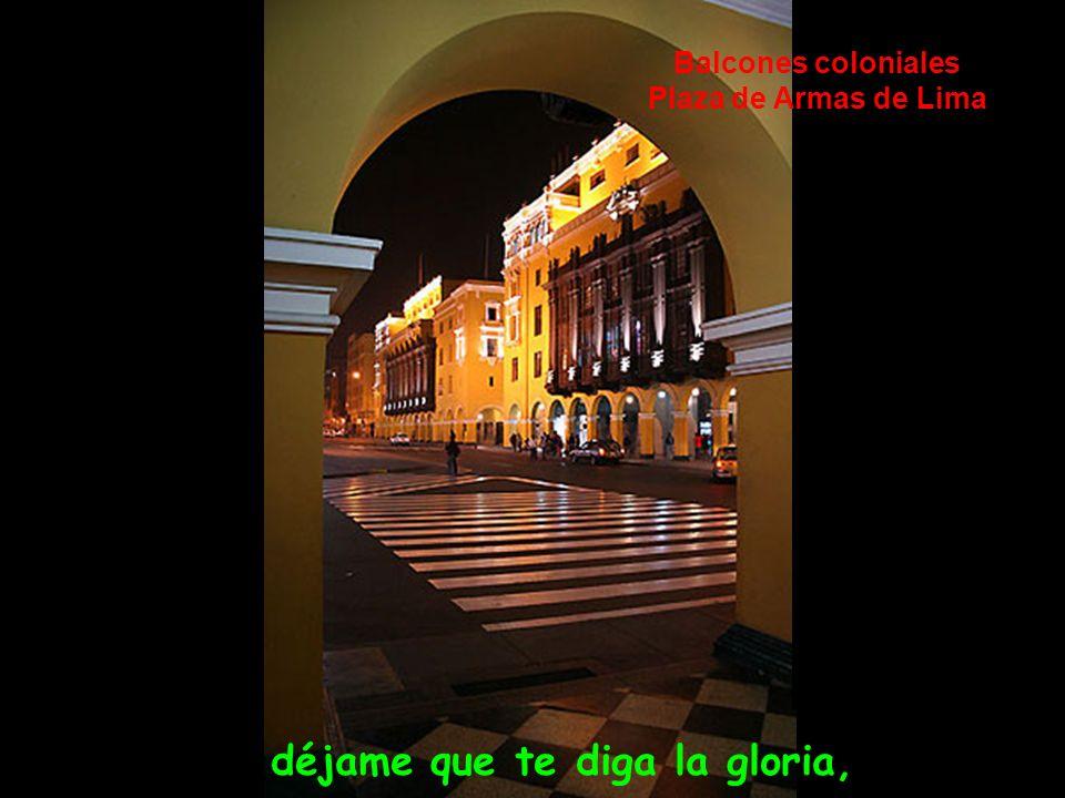 aromas de mixtura que en el pecho llevaba, Portales de la Plaza San Martín- Lima- Perú