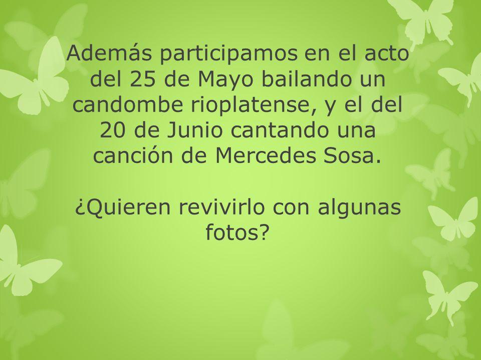 Antes del acto del 25 de Mayo….