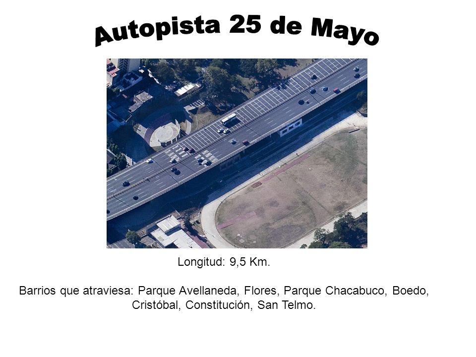Longitud: 9,5 Km. Barrios que atraviesa: Parque Avellaneda, Flores, Parque Chacabuco, Boedo, Cristóbal, Constitución, San Telmo.