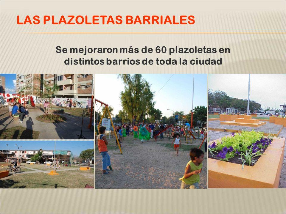 Se mejoraron más de 60 plazoletas en distintos barrios de toda la ciudad LAS PLAZOLETAS BARRIALES
