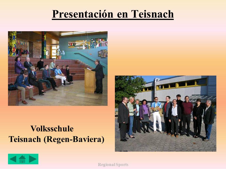 Regional Sports Presentación en Teisnach Volksschule Teisnach (Regen-Baviera)