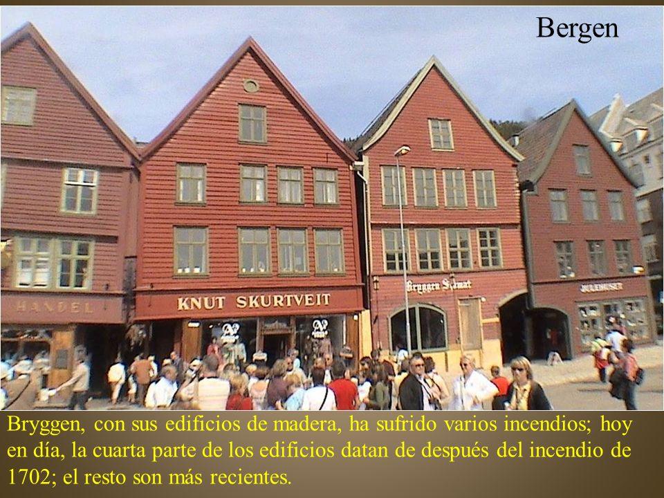 Bryggen era el barrio de los comerciantes de la Liga Hanseática, establecidos allí en 1360.