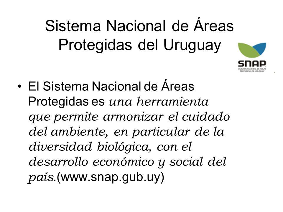 Sistema Nacional de Áreas Protegidas del Uruguay El Sistema Nacional de Áreas Protegidas es una herramienta que permite armonizar el cuidado del ambie