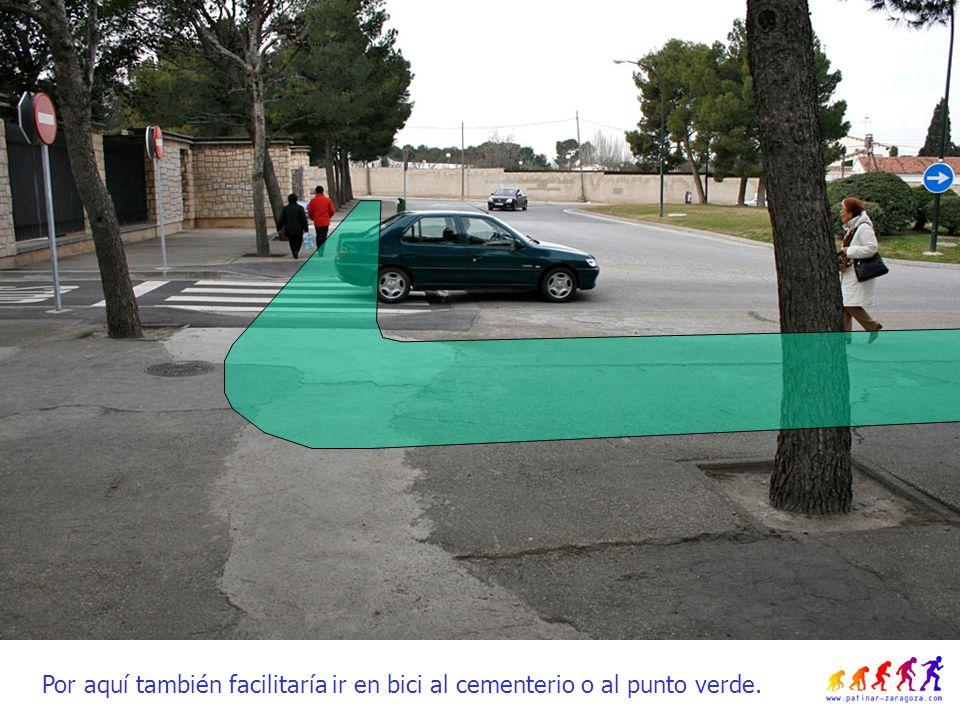 Por aquí también facilitaría ir en bici al cementerio o al punto verde.