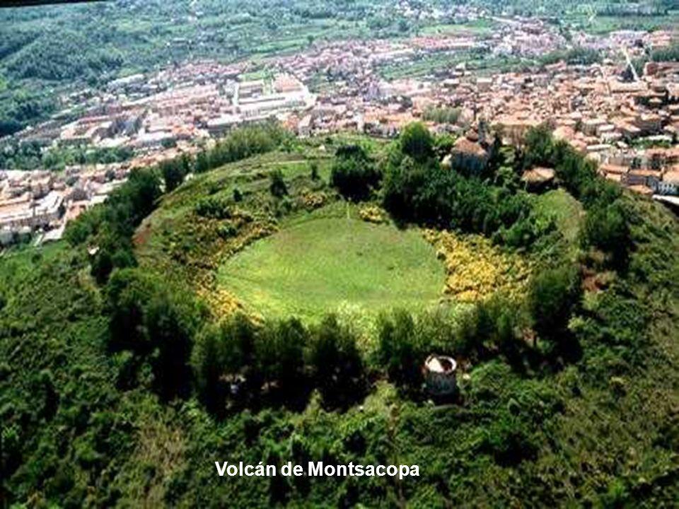 El Volcán Montsacopa (de monte y copa, debido a su forma) es una formación geológica situada en el municipio gerundense de Olot, alineado entre los vo