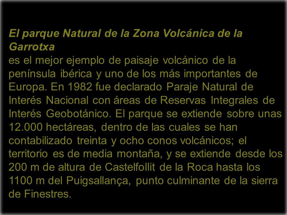 El parque Natural de la Zona Volcánica de la Garrotxa es el mejor ejemplo de paisaje volcánico de la península ibérica y uno de los más importantes de Europa.