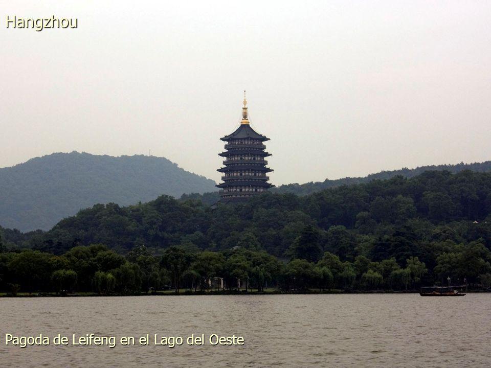 Una de las islas del Lago del Oeste Hangzhou
