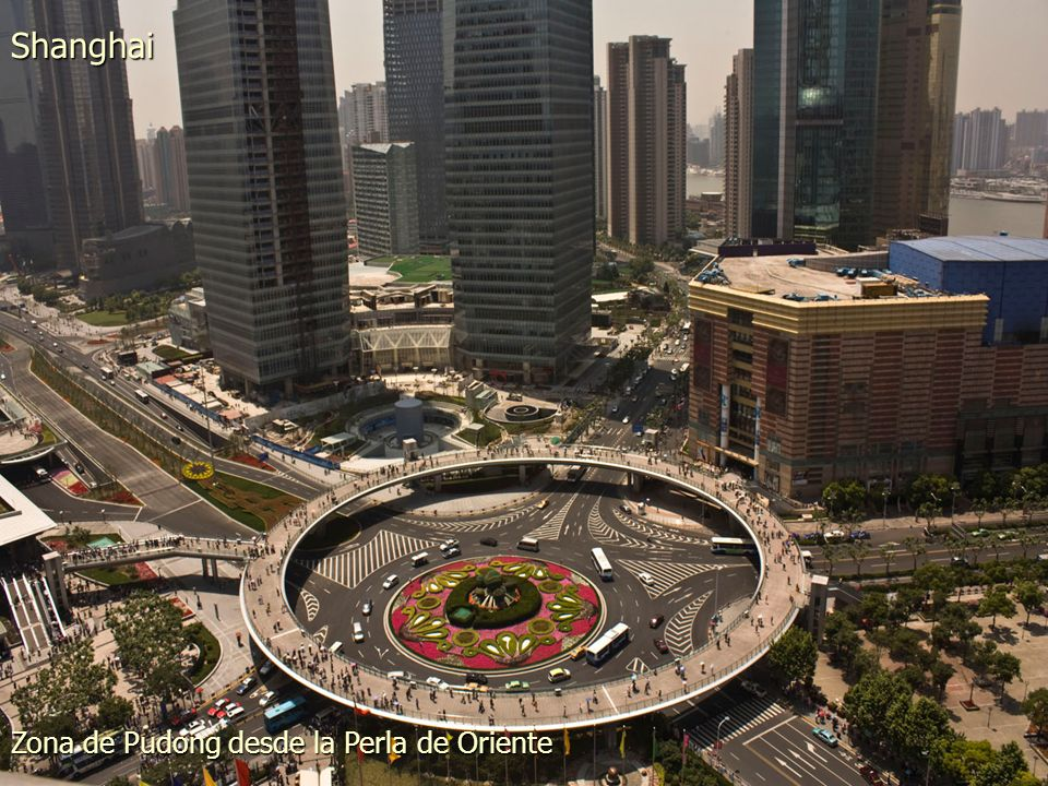 Zona de Pudong desde la Perla de Oriente Shanghai