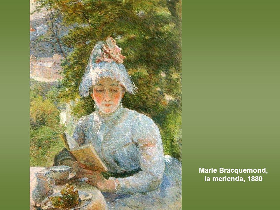 Berthe Morisot, mujer y niña en el jardín, h 1883-84