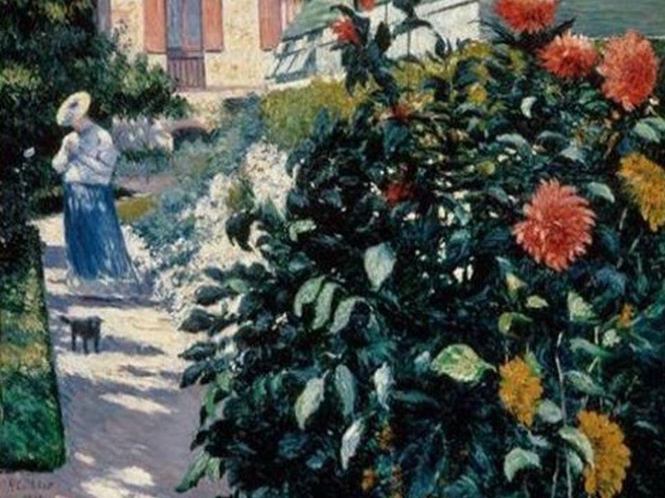 Gustave Calleibotte. Dalias, jardín de Pettit- Gennevilliers, 1895