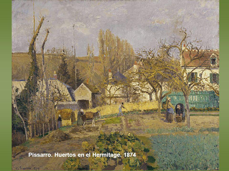 Pissarro. El jardín del artista en Eragny, 1898