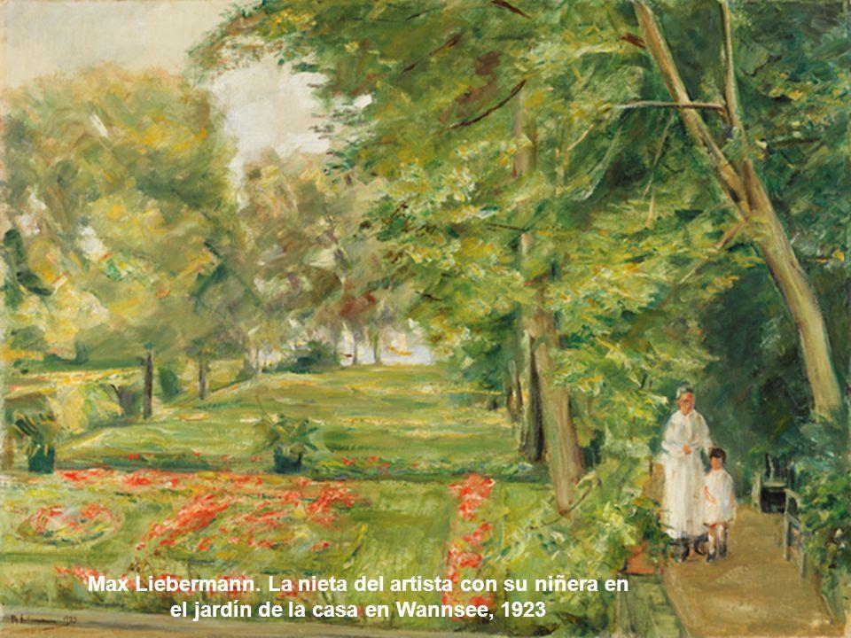 Pierre Bonnard. Siesta en el jardín, 1920