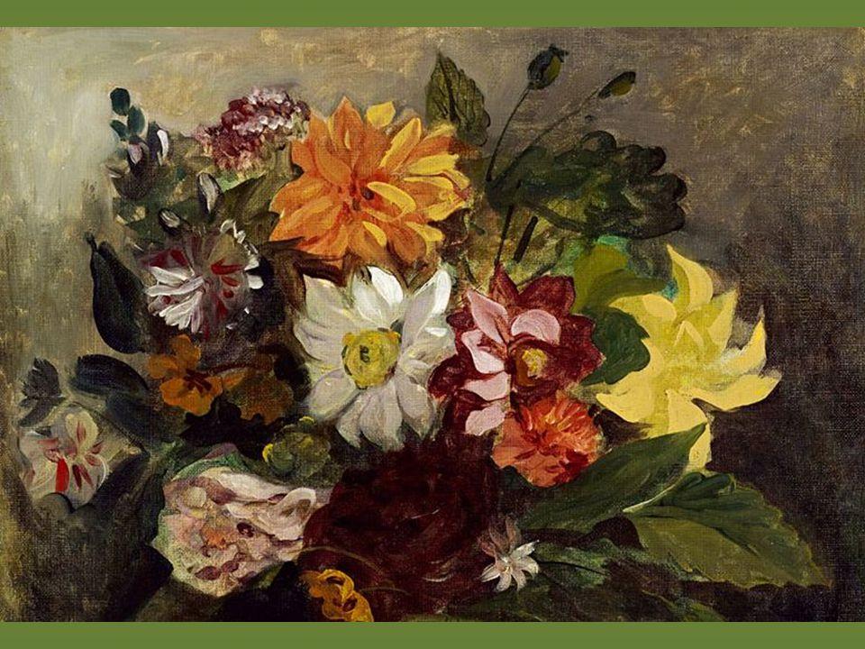 Delacroix, Jarrón con flores, 1833