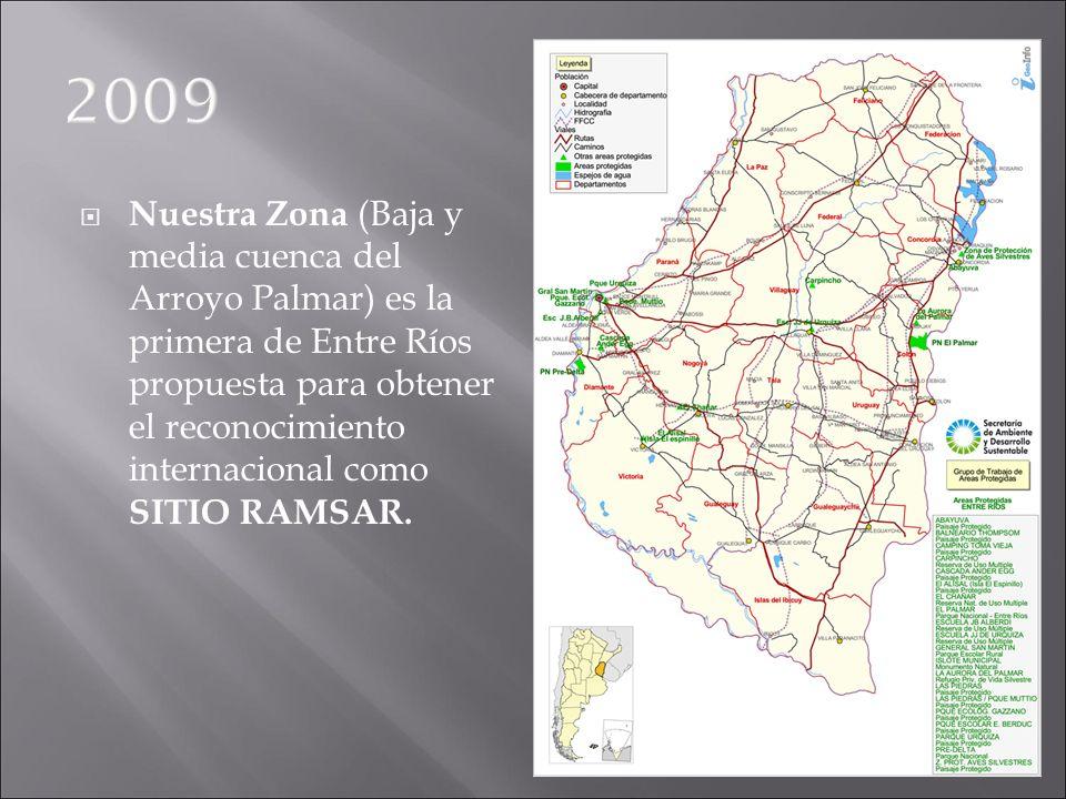 Nuestra Zona (Baja y media cuenca del Arroyo Palmar) es la primera de Entre Ríos propuesta para obtener el reconocimiento internacional como SITIO RAM