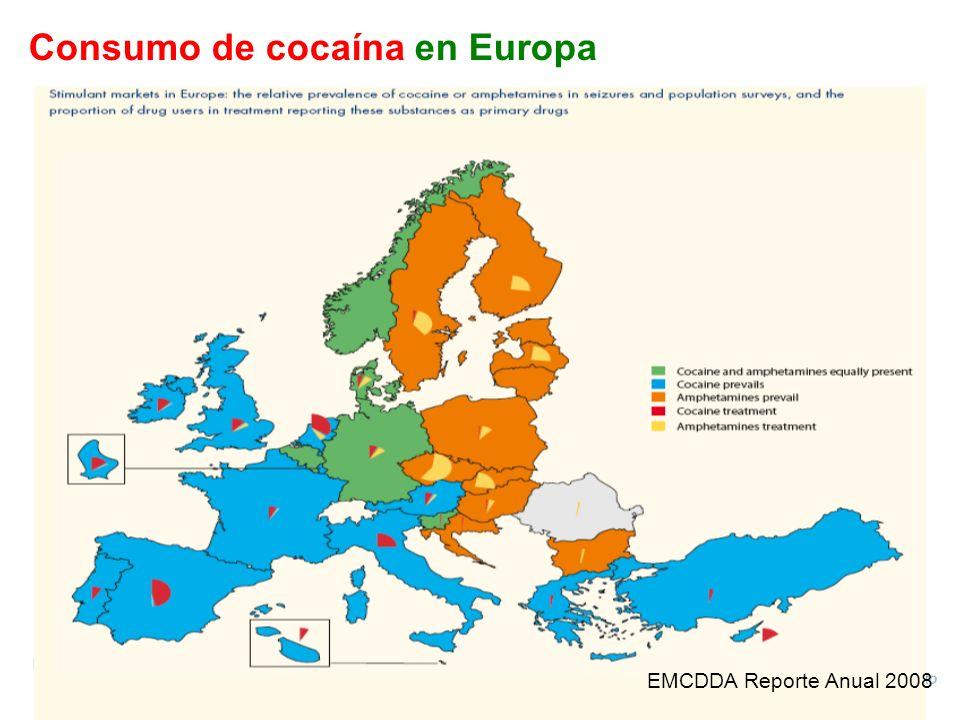EMCDDA Reporte Anual 2008 Consumo de cocaína en Europa