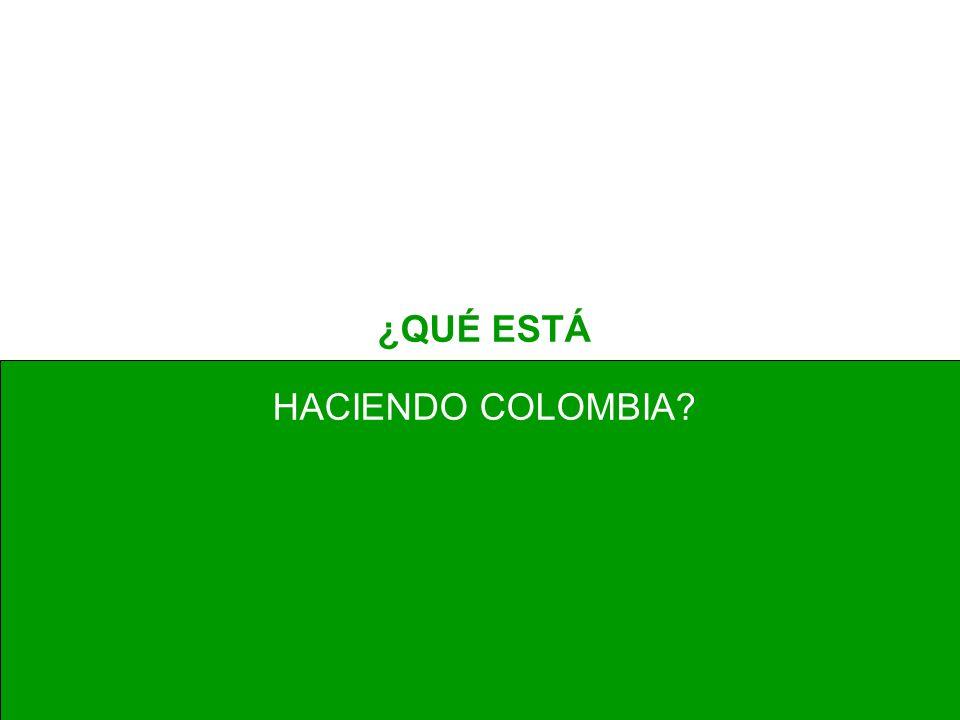 ¿QUÉ ESTÁ HACIENDO COLOMBIA?