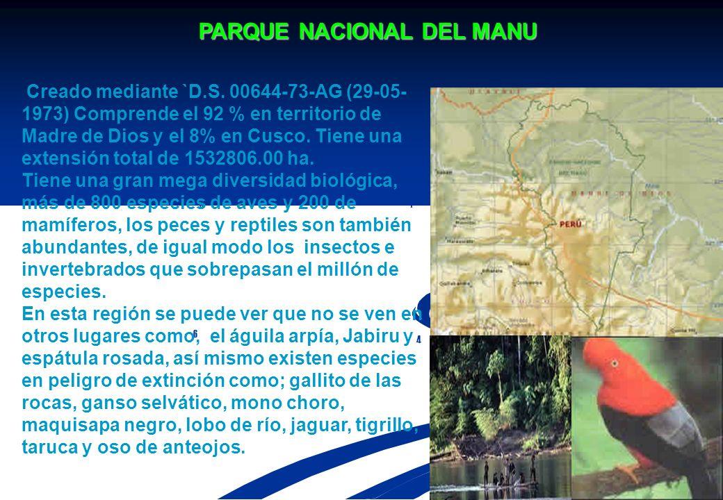 AREAS NATURALES PROTEGIDAS PARQUE NACIONAL ALTO PURUS