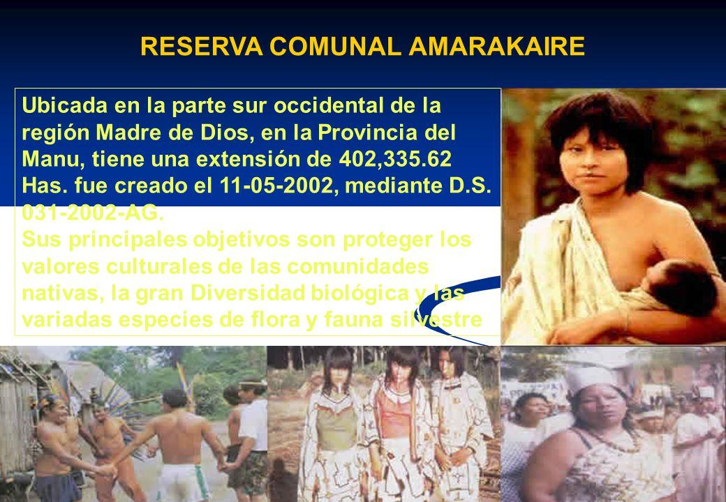 Ubicada en la provincia de Tambopata, tiene una extensión de 274,690 Has. Fue creada el 04-09-2000, mediante D. S. 048-2000 Posee una diversidad de fl