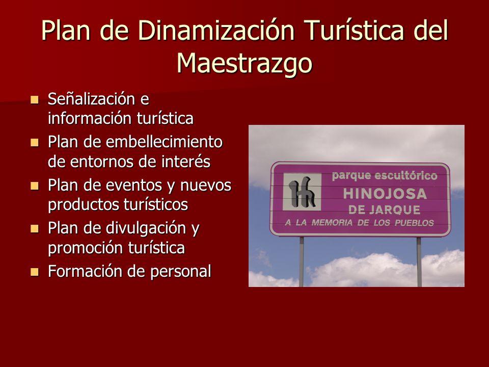 Plan de Dinamización Turística del Maestrazgo Señalización e información turística Señalización e información turística Plan de embellecimiento de ent