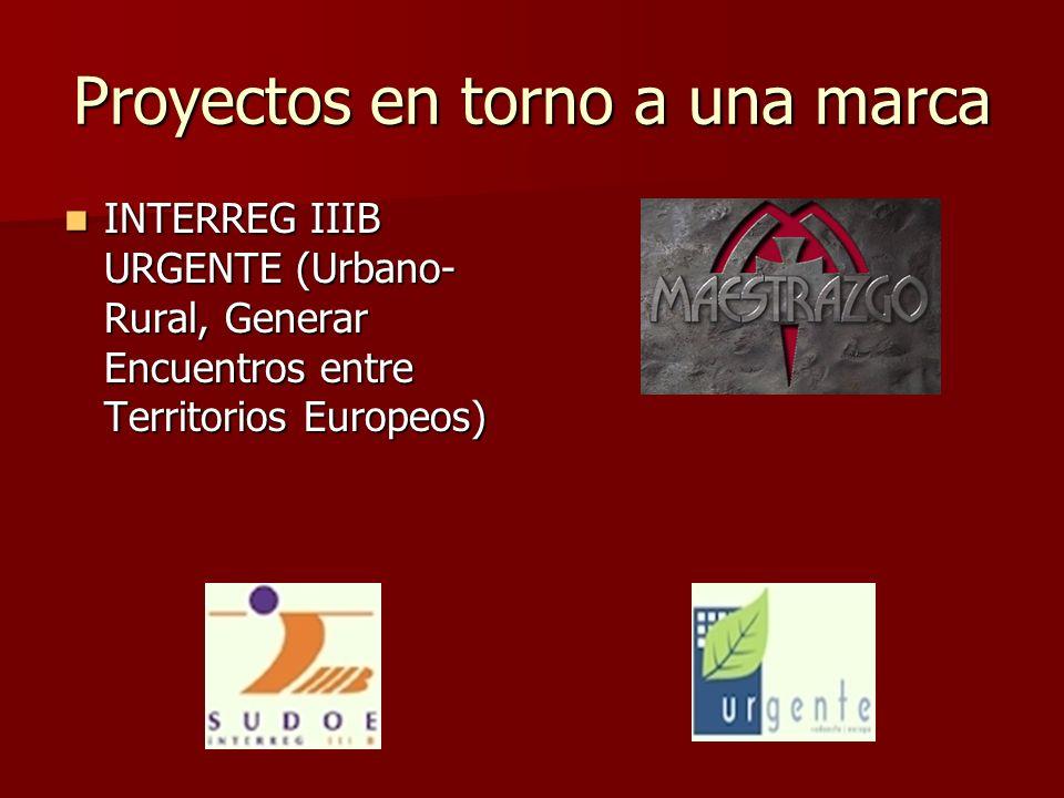 Proyectos en torno a una marca INTERREG IIIB URGENTE (Urbano- Rural, Generar Encuentros entre Territorios Europeos) INTERREG IIIB URGENTE (Urbano- Rur