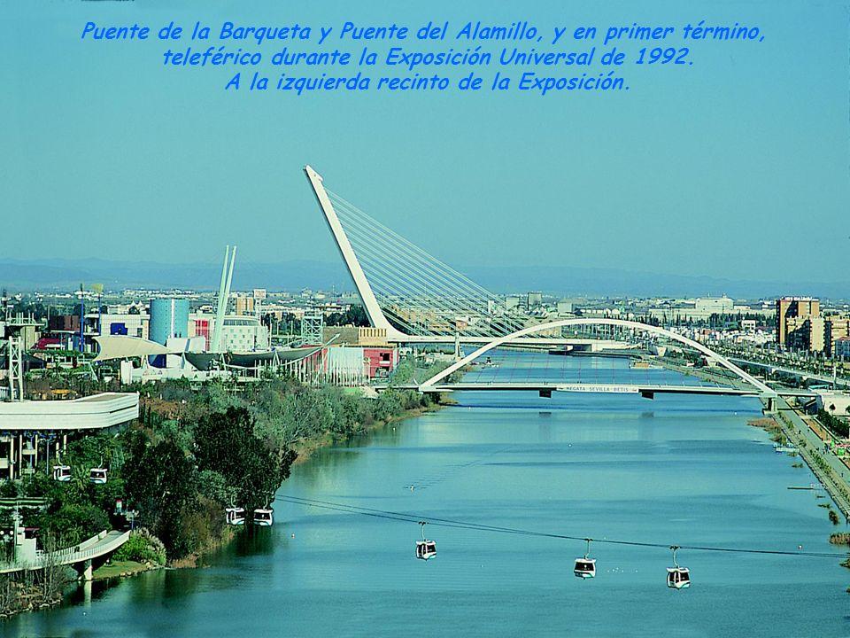 Puente del Alamillo 1991 Puente de La Barqueta 1989 Puente Cristo de la Expiración 1991 Puente de Isabel II (Puente de Triana) 1845 Puente San Telmo 1