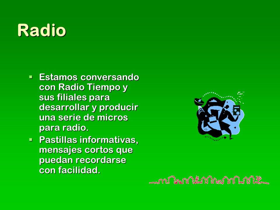 Radio Estamos conversando con Radio Tiempo y sus filiales para desarrollar y producir una serie de micros para radio.